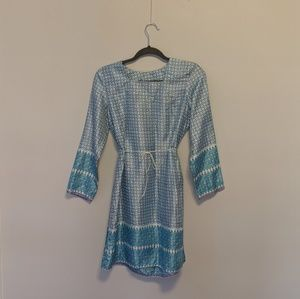 Vintage Silk Printed Tunic - Indian Silk Dress